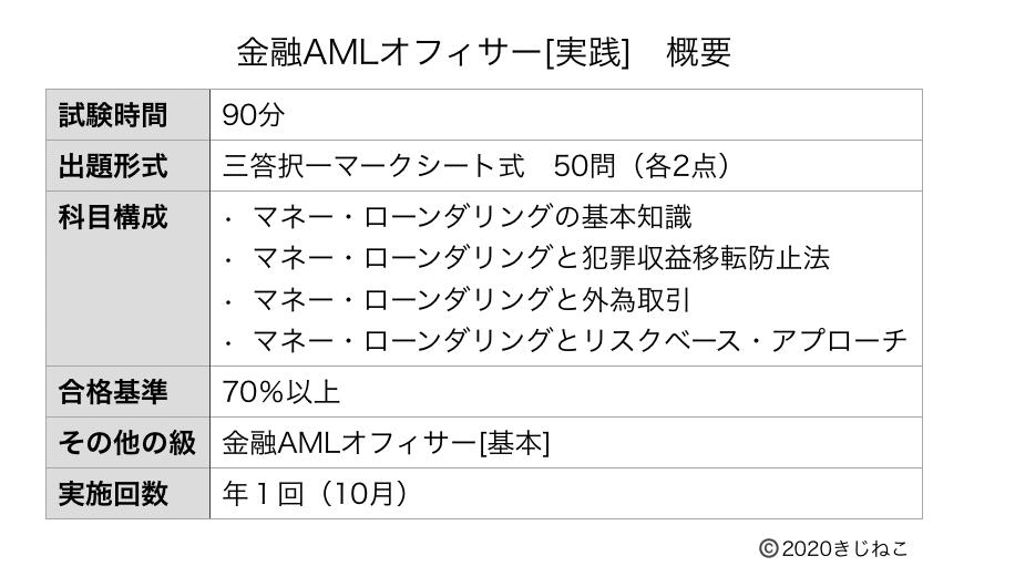 金融AMLオフィサー[実践](概要)の表