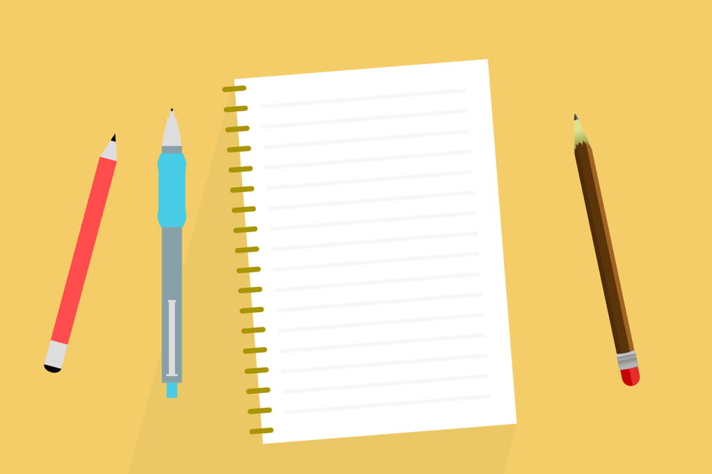 desk pen note